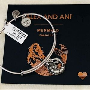 ALEX AND ANI MERMAID II CHARM BANGLE BRACELET NWT